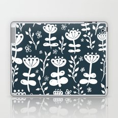 Navy Blooms Laptop & iPad Skin