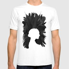 Black Swan Mens Fitted Tee White MEDIUM