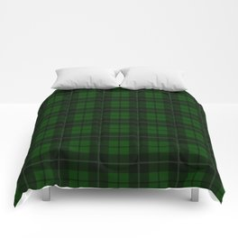 Forest Green Plaid Comforters