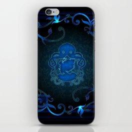 Steampunk Blue iPhone Skin