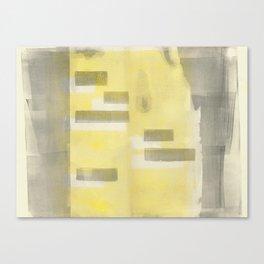 Stasis Gray & Gold 1 Canvas Print