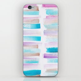 4| 181101 Watercolour Palette Abstract Art | Lines | Stripes | iPhone Skin