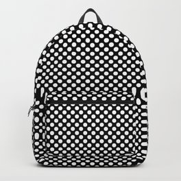Black and White Polka Dots Backpack