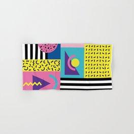 Memphis pattern 53 - 80s / 90s Retro Hand & Bath Towel