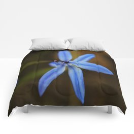 Blue Star close up #2 Comforters