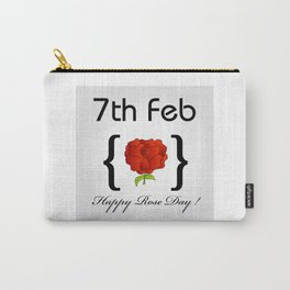 Happy Rose day february 7th- valentine month gifts for lovers Carry-All Pouch