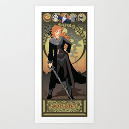 Sorsha Nouveau - Willow Art Print