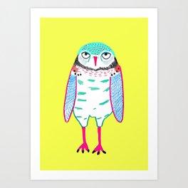 Owl Cute. Art Print