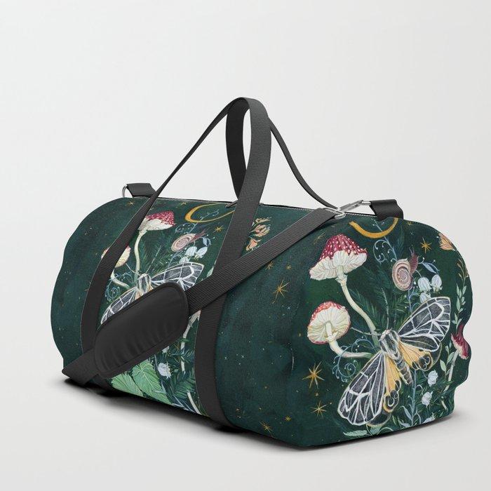 Mushroom night moth Duffle Bag