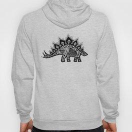 Stegosaurus Lace - Black / Grey Hoody