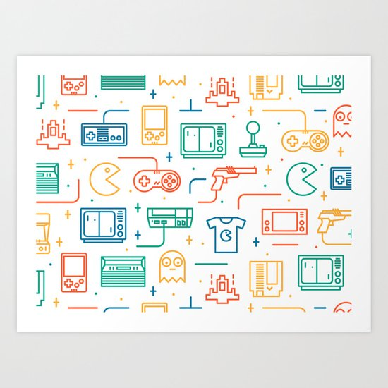Pac Man Art Print