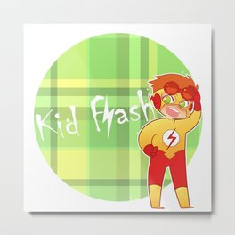 Chibi Kid Flash Metal Print