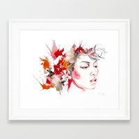 oriental Framed Art Prints featuring oriental by Lua Fraga