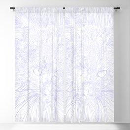 felines gray Blackout Curtain