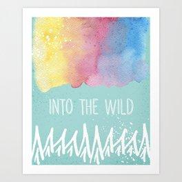 Into the Wild - Wild Heart Boho Watercolor Mountains Art Print