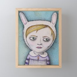Rabbitgirl Framed Mini Art Print