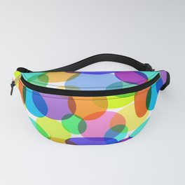 Colorful Layered Ovals! Fanny Pack