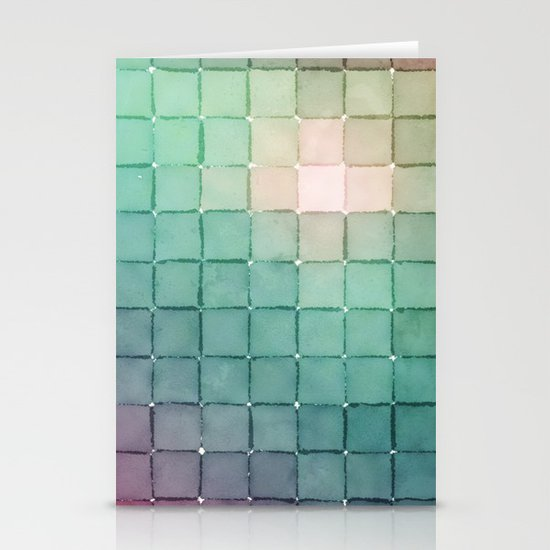 Polaroid Pixels VIII (Glow) Stationery Cards
