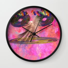 Funny Fraktal is talking to you   (A7 B0144) Wall Clock