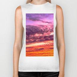 Sunset sky Biker Tank