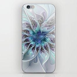 Flourish Abstract, Fantasy Flower Fractal Art iPhone Skin