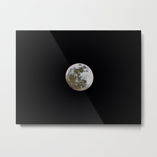 """I'm Full"", said the Moon. Metal Print"