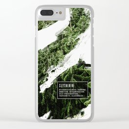 Slytherin Nature Clear iPhone Case