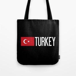 Turkey: Turkish Flag & Turkey Tote Bag