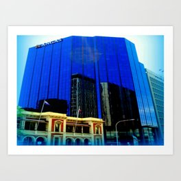Reflections - Adelaide CBD Art Print