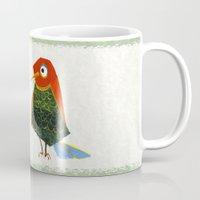 birdy Mugs featuring Birdy by KristinaVardazaryan