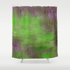 Green Color Fog Shower Curtain