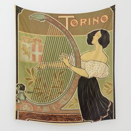 Art nouveau Royal Opera House Turin Torino Wall Tapestry