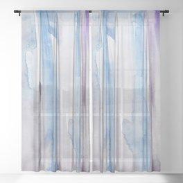 3     190907   Watercolor Abstract Painting Sheer Curtain