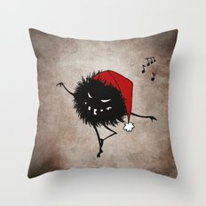 Dark Evil Christmas Bug Throw Pillow