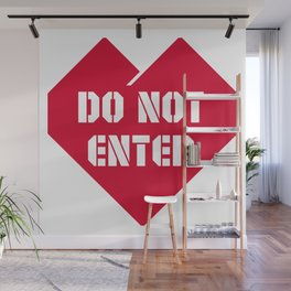 Do Not Enter Wall Mural