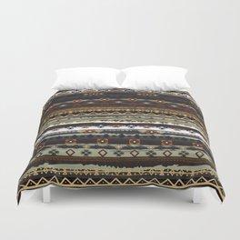 Boho Horizontal Striped Pattern Duvet Cover