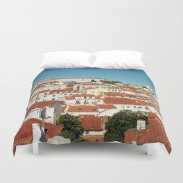 Lisbon view, Portugal Analog 6x6 Kodal Ektar 100 (RR 166) Duvet Cover