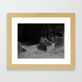 Tourtelotte Graveyard Framed Art Print
