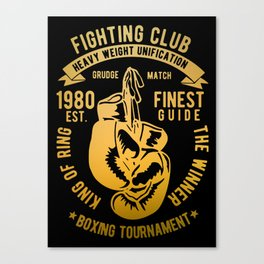 fighting club heavy weight unification Canvas Print