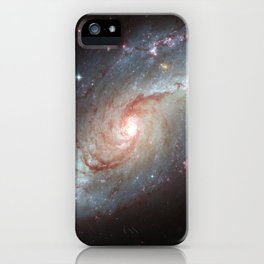 Barred spiral galaxy iPhone Case