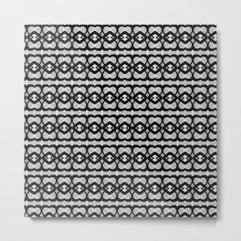 Heartlines gray pattern Metal Print