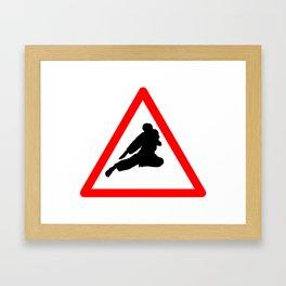 Street Fight Framed Art Print