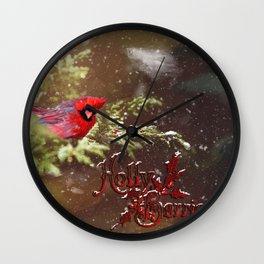 Holly Berries Wall Clock