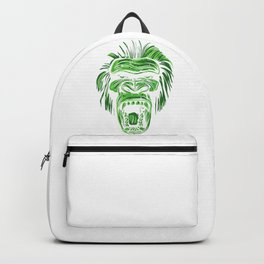 GORILLA KING KONG - Green Backpack
