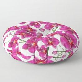 Fuchsia Pink Moth Orchids Floor Pillow