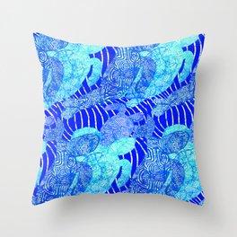 blue sea turtles Throw Pillow