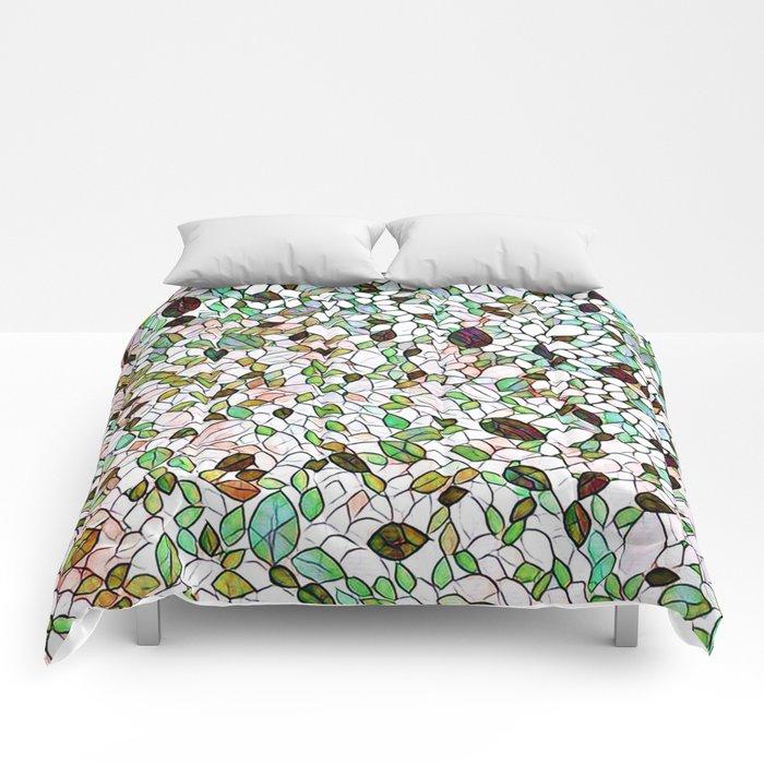 Adamski Leaf Mosaic Stained Glass Comforters