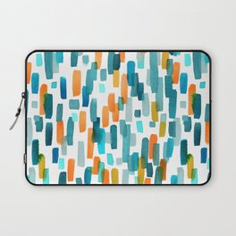 Coral and Teal Watercolor Abstract Laptop Sleeve
