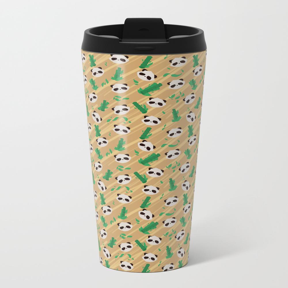 Panda Bamboo Pattern Metal Travel Mug by Faraday MTM8564620