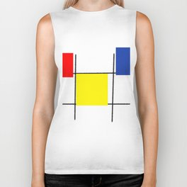 Colourful design squares Biker Tank